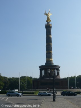 Photo triumphal column Siegessäule in Berlin, located Tiergarten